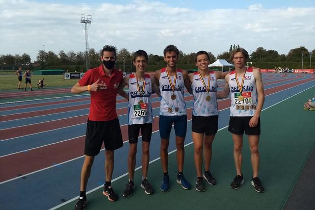 Goud voor scholieren Olympic Brugge op BK Estafetten