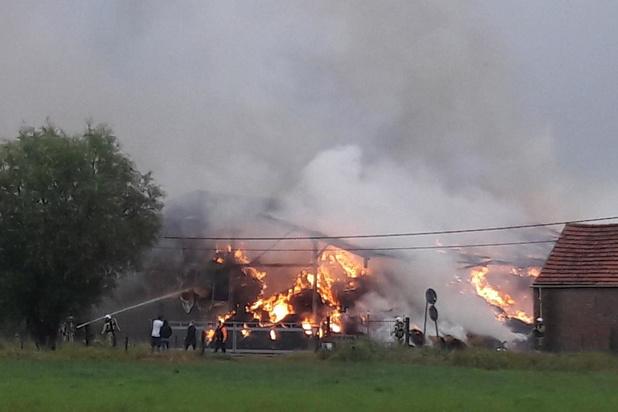 Uitslaande brand vernielt schuur
