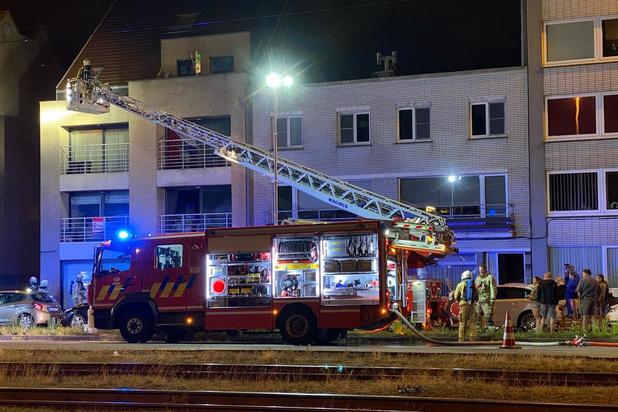 Bewoner naar het ziekenhuis bij felle appartementsbrand in Zeebrugge