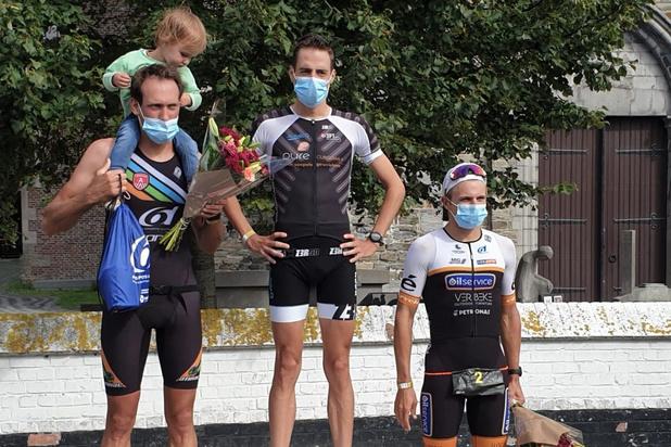 Brecht Van Vooren en Karlien Claus winnen eerste Viven triatlon in Damme