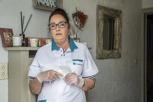 """Conny uit Rumbeke doet thuiszorg bij coronapatiënten: """"Kwestie van blijven gaan"""""""