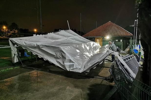 Stormschade hondenschool Lauwe