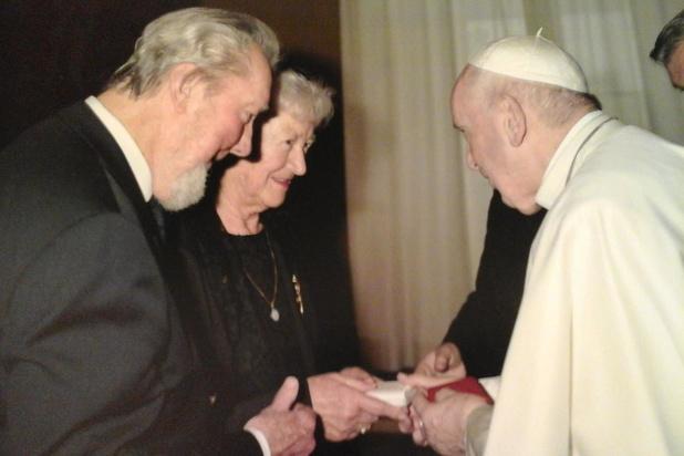 Echtpaar uit Oostende voor de vijfde keer op audiëntie bij de paus