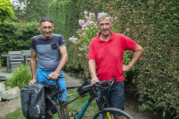 Marc Renier en Rino Vandromme zijn vertrokken voor fietstocht van 2.400 km naar Santiago de Compostela