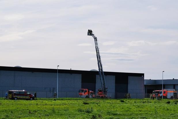 Brand bij metaalconstructiebedrijf Allemeersch in Kaaskerke
