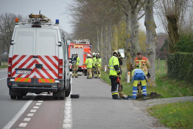 Brand aan ondergrondse elektriciteitskabel in Hertsberge