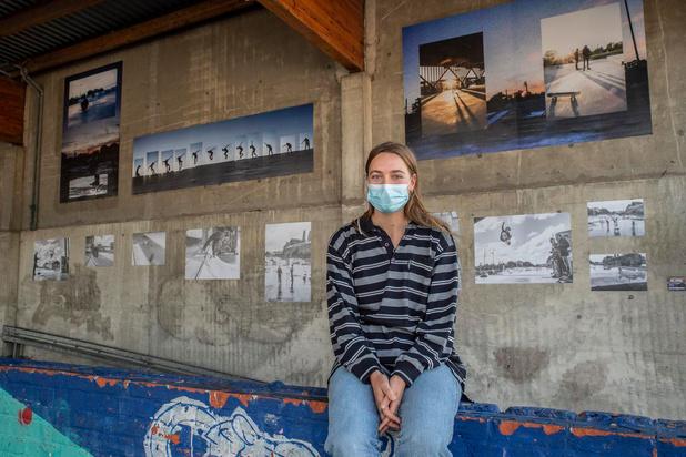 Urban Art-muur met werk Nel Samoy op Trax-site in Roeselare