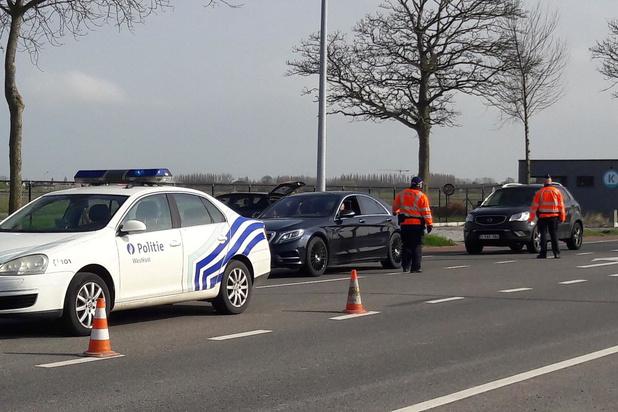 Politie Westkust doet controles op toegangswegen naar Koksijde