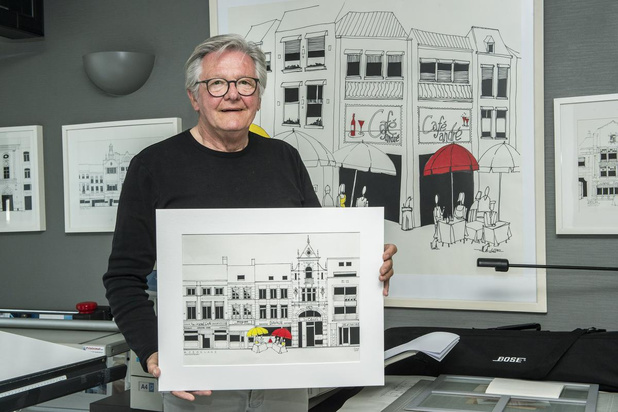 Interieurarchitect André Vancandelaere vereeuwigt Roeselaarse gevels