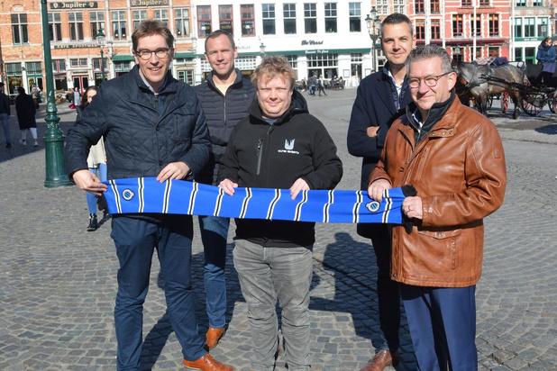Bekerfinale Club Brugge-Antwerp op groot scherm op Brugse Markt