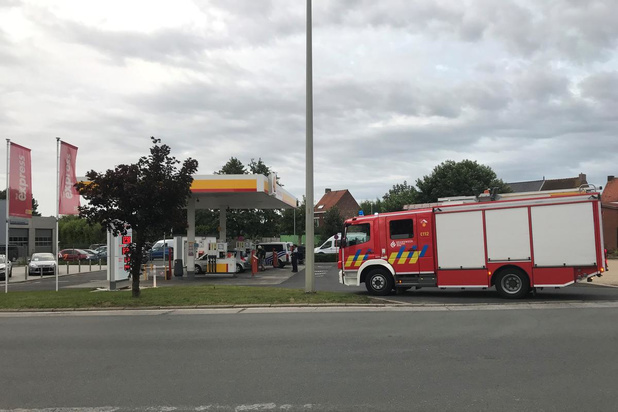 Brandgevaar bij tankstation Ieper