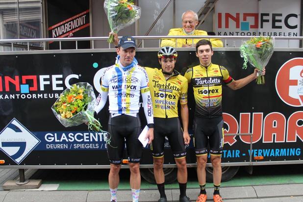 Lennert Teugels wint in Bellegem