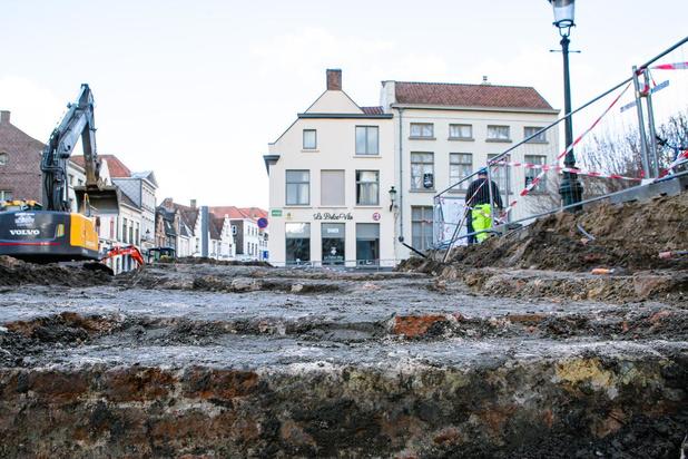 Brugge legt werken in Katelijnestraat stil