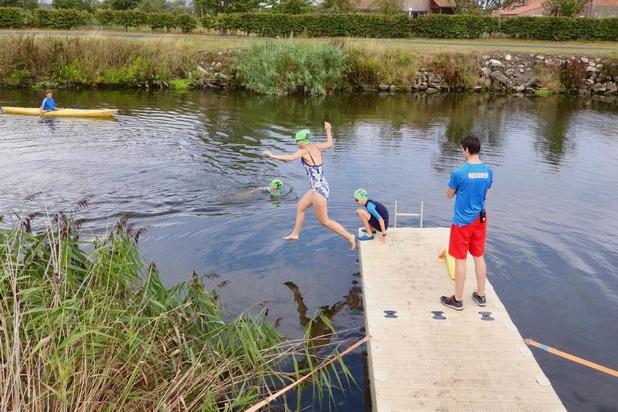 Zwemmen in het kanaal even toegestaan