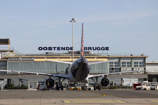 Veel minder passagiers, veel meer vracht op luchthaven Oostende