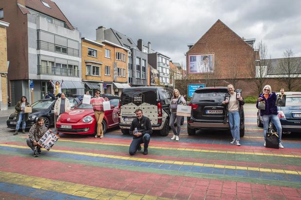 Handelaars van Roeselaarse Wallenstraat helpen elkaar met gebundelde thuisleveringen