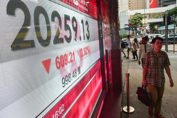Beurs Hongkong gaat hard omlaag door Chinese techbedrijven