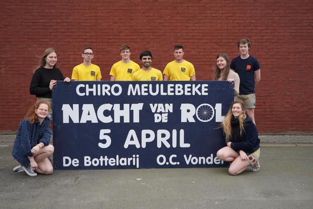 Geen 48ste Chiro rolmarathon in Meulebeke