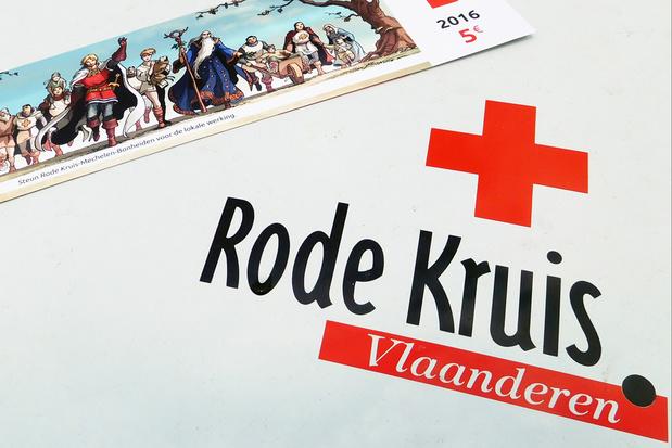 Stickeractie Rode Kruis levert slechts tiende op van opbrengst vorig jaar