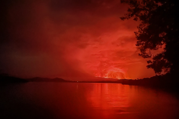 Vulkaanuitbarsting treft Congolese stad Goma
