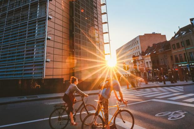 Bijna 9 procent meer fietsers in Brussel