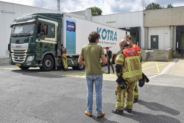 Chauffeur reageert alert nadat vrachtwagen oververhit geraakt
