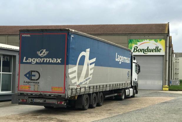 Zestal verstekelingen gevonden in vrachtwagen bij groentenbedrijf Bonduelle