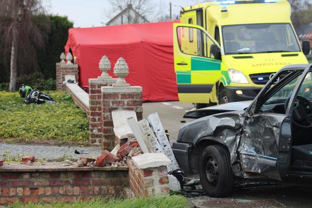 Dodelijk ongeval in Ichtegem, motorrijder overlijdt ter plaatse