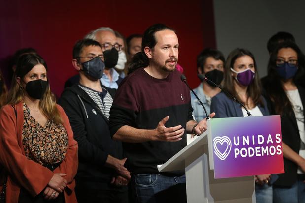 Pablo Iglesias (Podemos) kondigt afscheid van politiek aan na nederlaag in Madrid