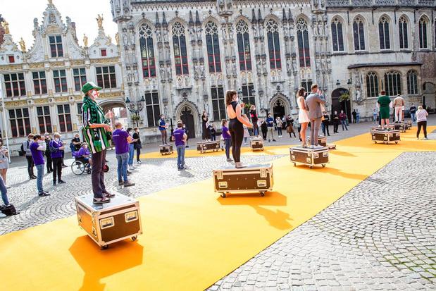 Sound of Silence hield actie voor meer verbondenheid op de Burg in Brugge