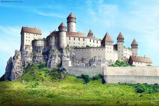 Bekijk hoe zeven Europese kasteelruïnes weer opgebouwd worden
