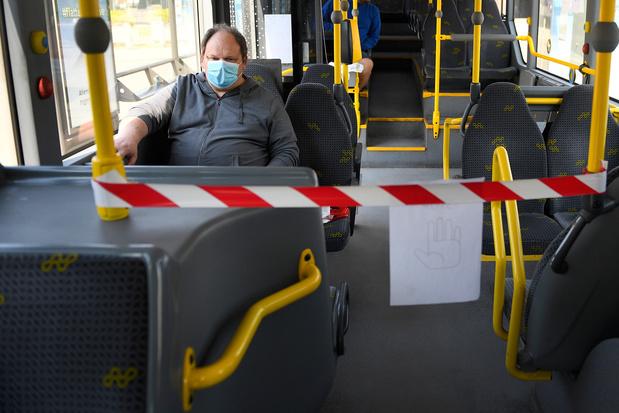 Mond en neus niet bedekt in trein, tram of bus? Vanaf maandag riskeert u boete van 250 euro