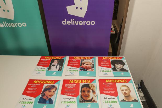 Bezorgers Deliveroo gaan in Nederland uitkijken naar vermiste kinderen
