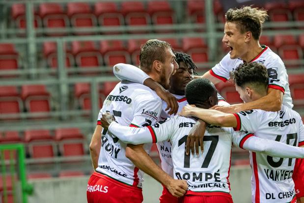 KV Kortrijk pakt in extremis een punt in Waregem