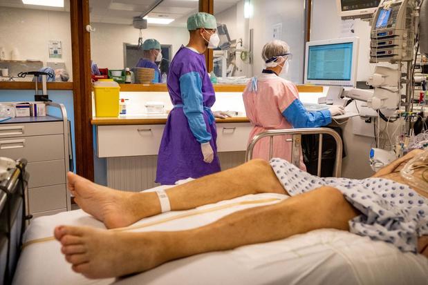 Un peu plus de 250 admissions à l'hôpital et 43 décès en moyenne par jour