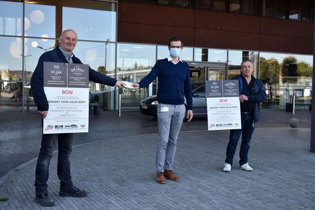 Frituur De Leet en Sint-Jan en Bakkerij Pieter-Jan tonen zich solidair met ziekenhuis
