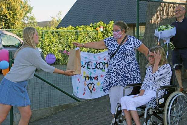 Applaus voor Marie-Anne uit Zwevegem na 100 dagen ziekenhuis