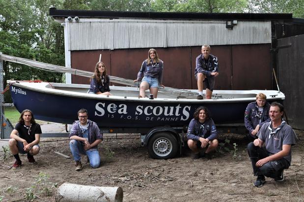 Sea Scouts 15de FOS 't Kraaienest De Panne opgelucht dat ze op kamp kunnen