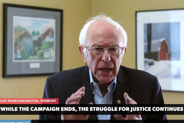 Bernie Sanders verlaat presidentscampagne en geeft Joe Biden vrije baan