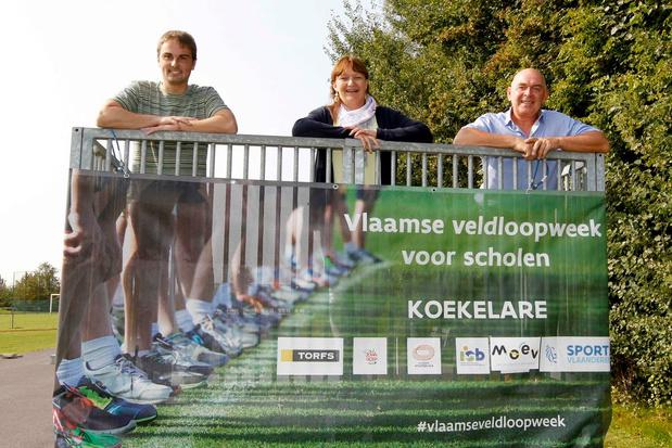 Scholenveldloop in Koekelare zonder podium en medailles, wel met ... appels