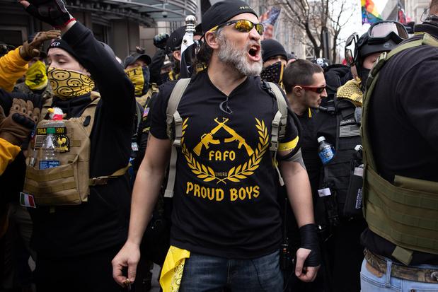 VS: Aanklachten tegen vier leiders van extreemrechtse organisatie Proud Boys