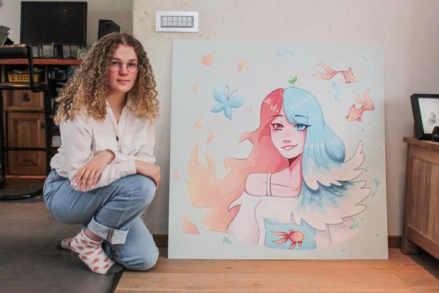 Jong artistiek talent Aukje Goethals tovert virtuoos stripfiguren tot leven