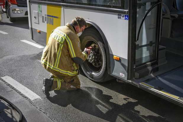 Oververhit remsysteem bus zorgt even voor onrust