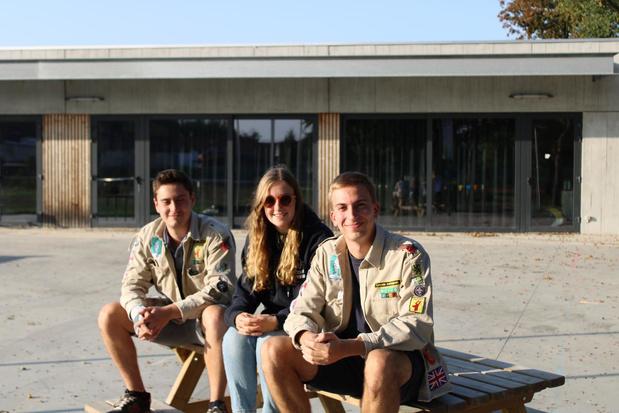 Fien, Dries en Benjamin nieuwe groepsleiders Scouts Ingelmunster