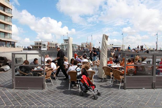 Terrassen Oostendse horeca blijven staan tot begin november