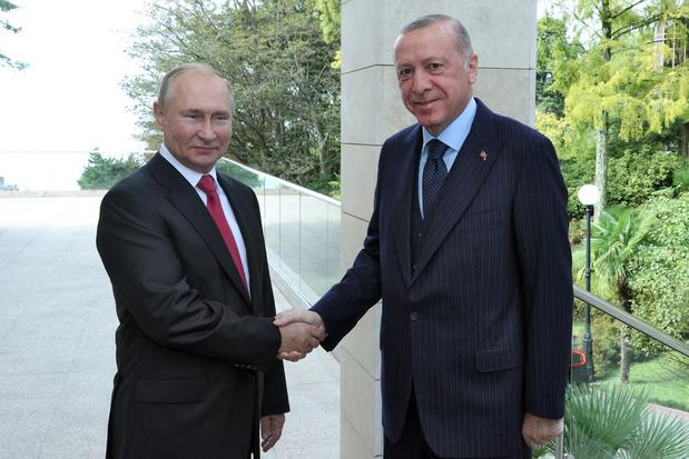 Poetin en Erdogan loven Russisch-Turkse samenwerking
