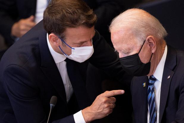 Macron spreekt met Biden over duikbotencrisis