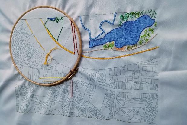 Doetip: deel je verhalen met naald en draad op de Antwerpse stadskaart van DOEK