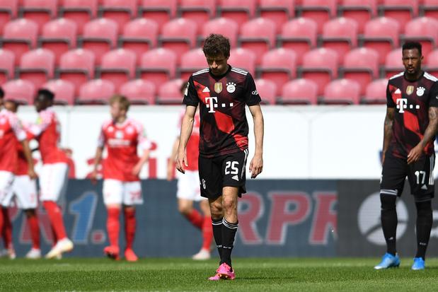 Mainz verrast Rekordmeister: Bayern München moet titelfeest uitstellen