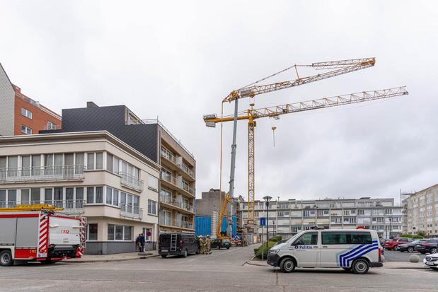Torenkraan slaat op hol op Mouchotteplein in Middelkerke